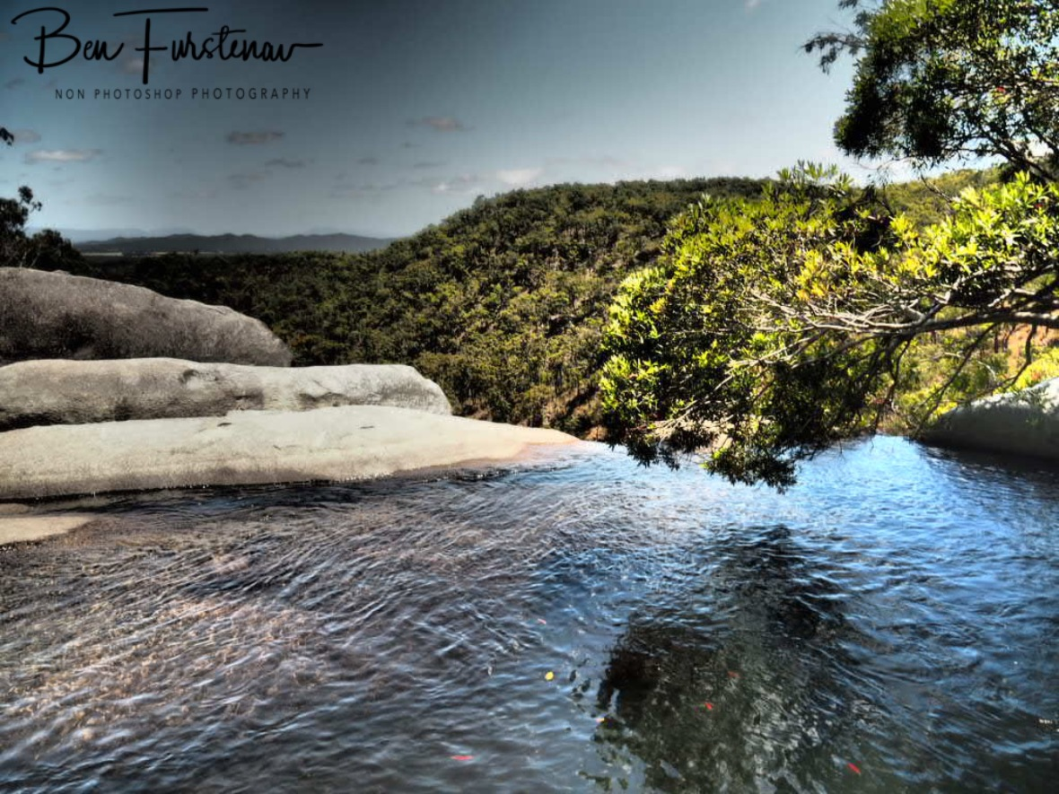 Pool with a view at Davies Creek Falls, Atherton Tablelands, Far North Queensland, Australia