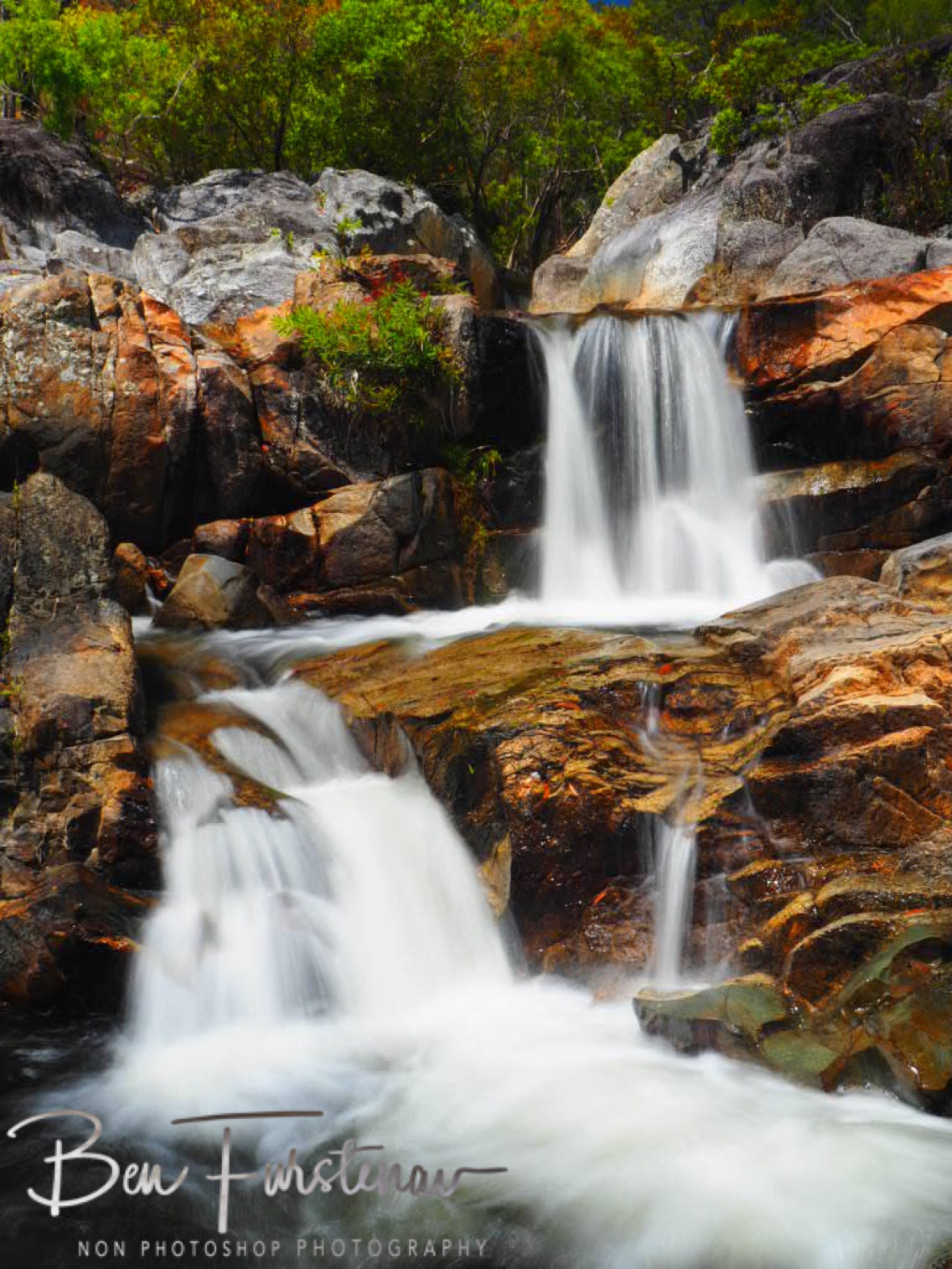 Cascading waters at Upper Davies Creek, Atherton Tablelands, Far North Queensland, Australia