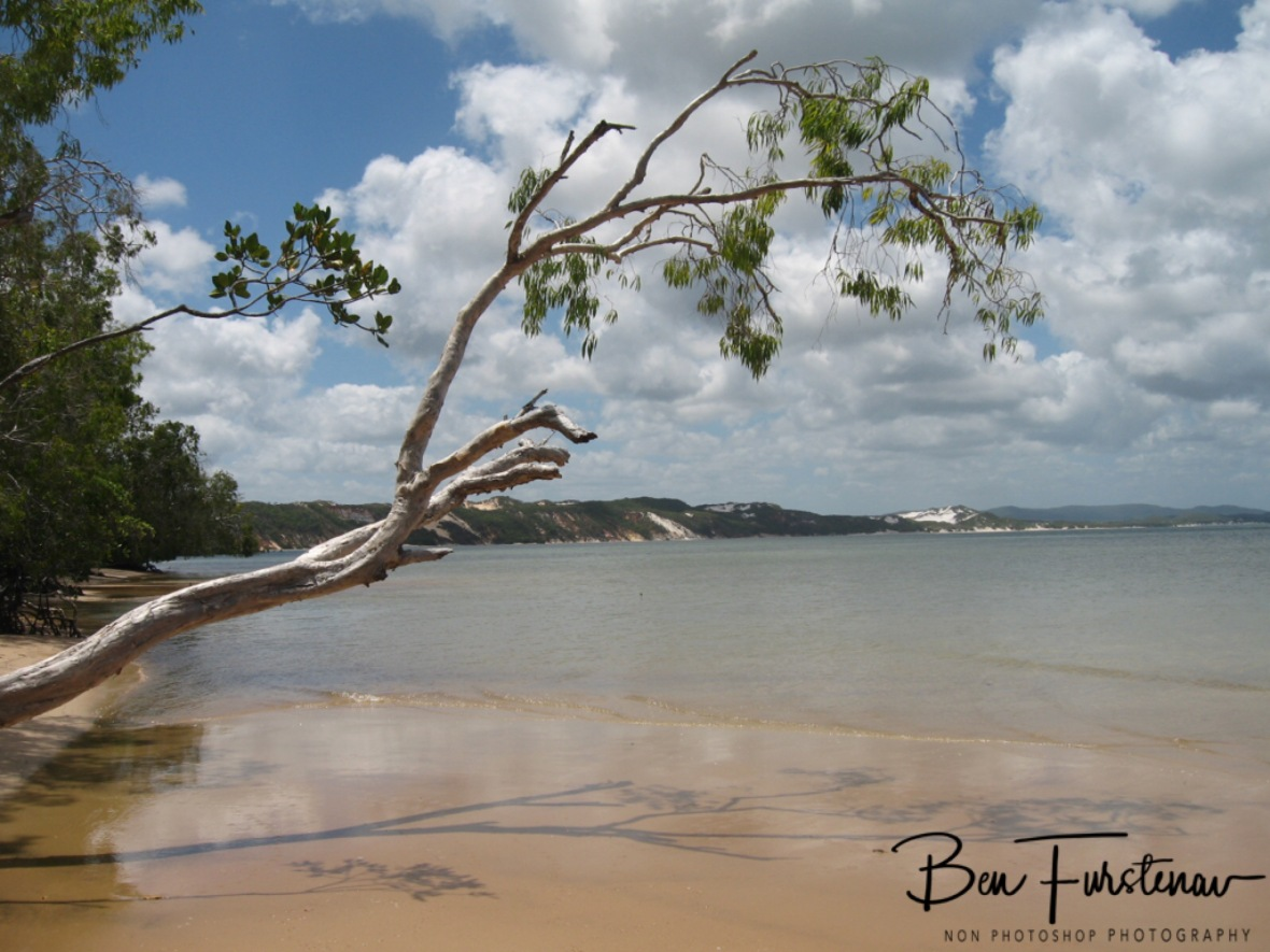 Rainbow Beach in the distance from Elim Beach, Cape York Peninsula, Far North Queensland, Australia