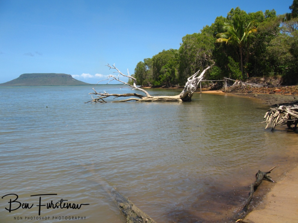 Unmistaken view towards Cape Elim, Elim Beach, Cape York Peninsula, Far North Queensland, Australia culture shock