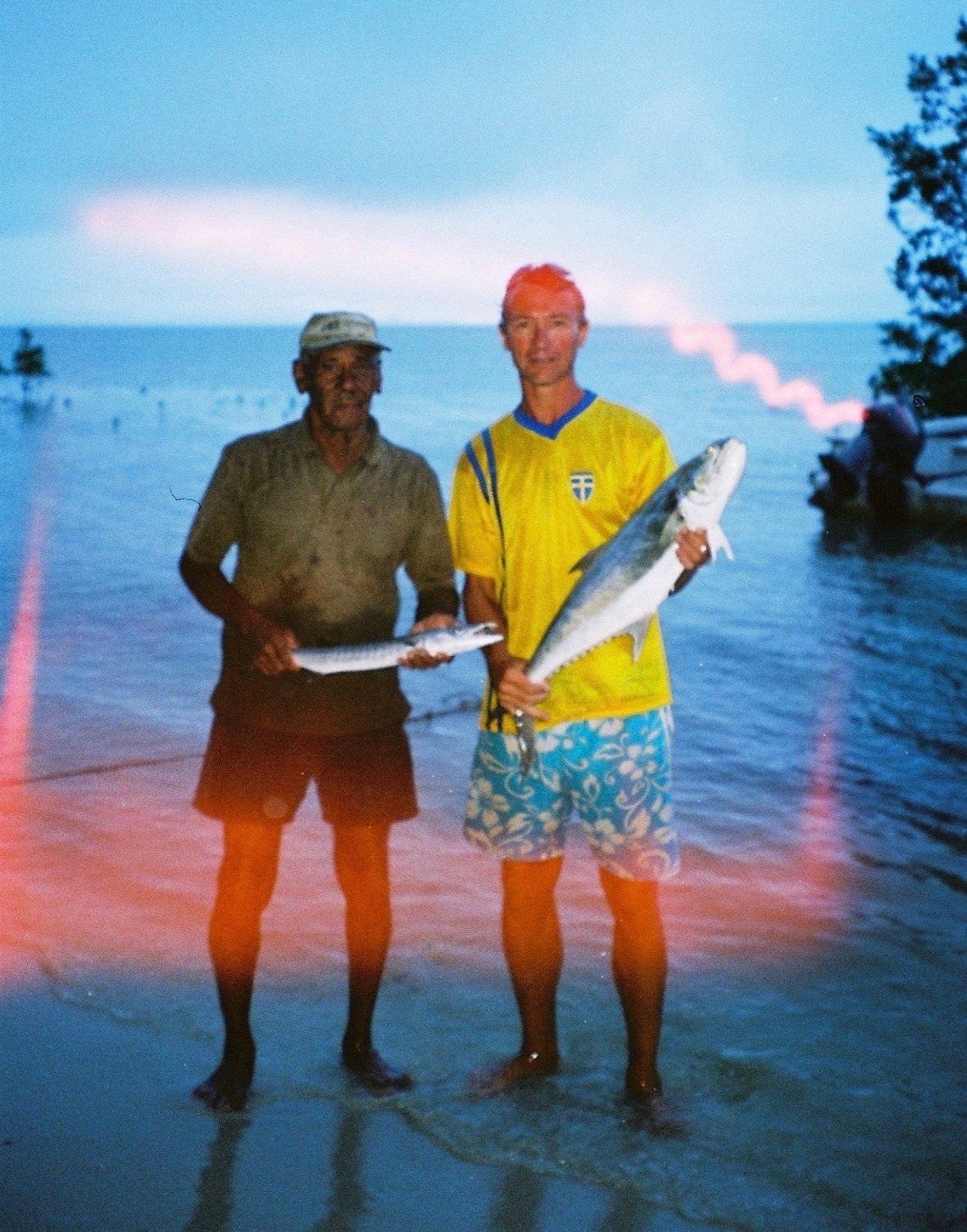 A fun day fishing with aboriginal land owner Eddie at Elim Beach, Cape York Peninsula, Far North Queensland, Australia