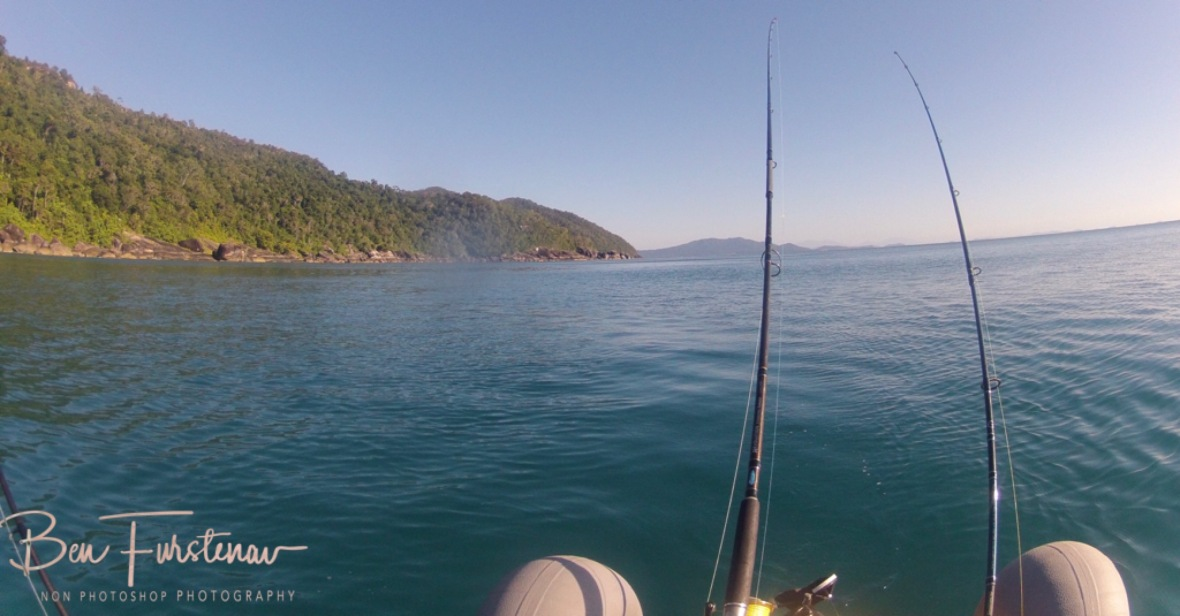 A huge hit on my rod on the seaside of Double Island at Palm Cove, Tropical Queensland, Australia