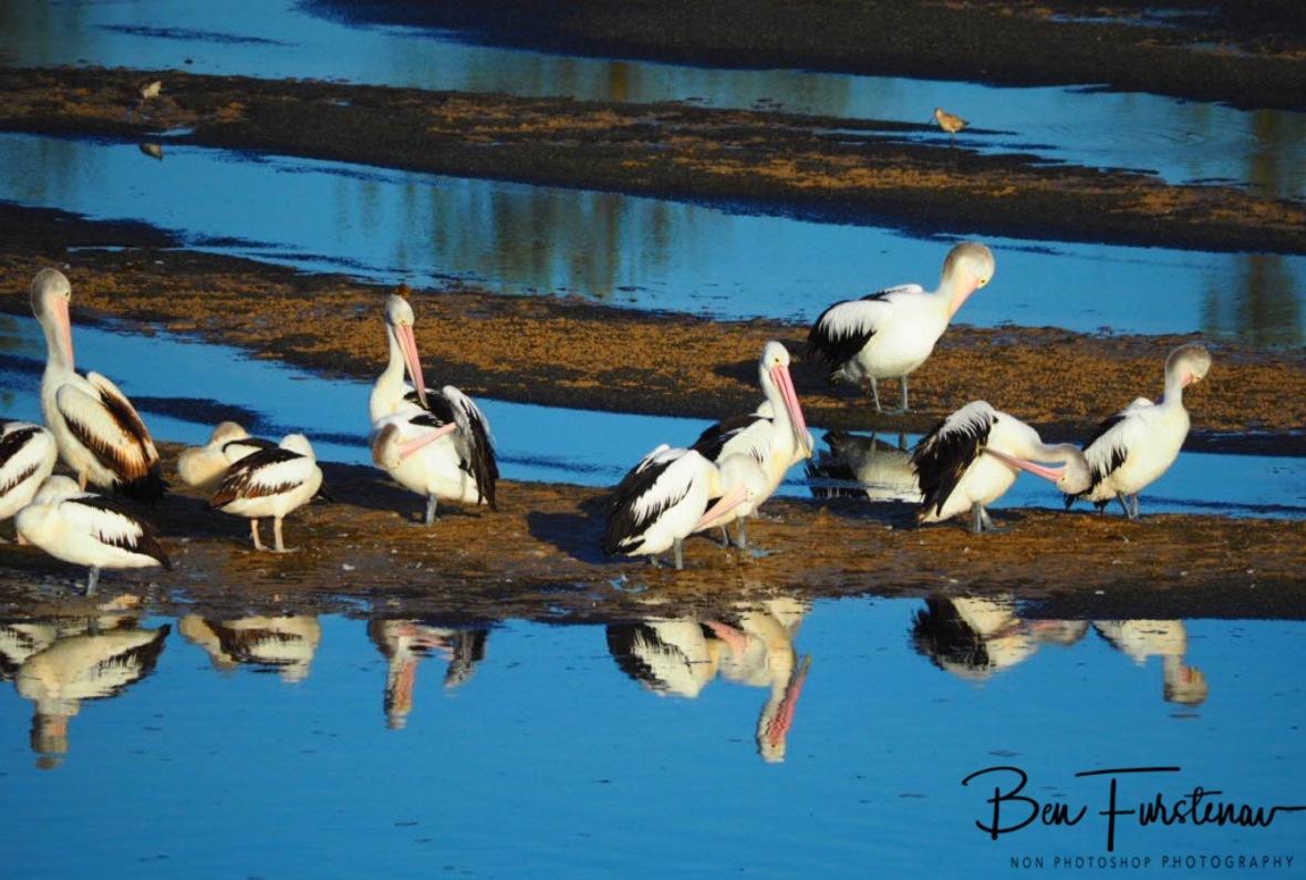 Natural mirror at Evans Head, Northern New South Wales, Australia