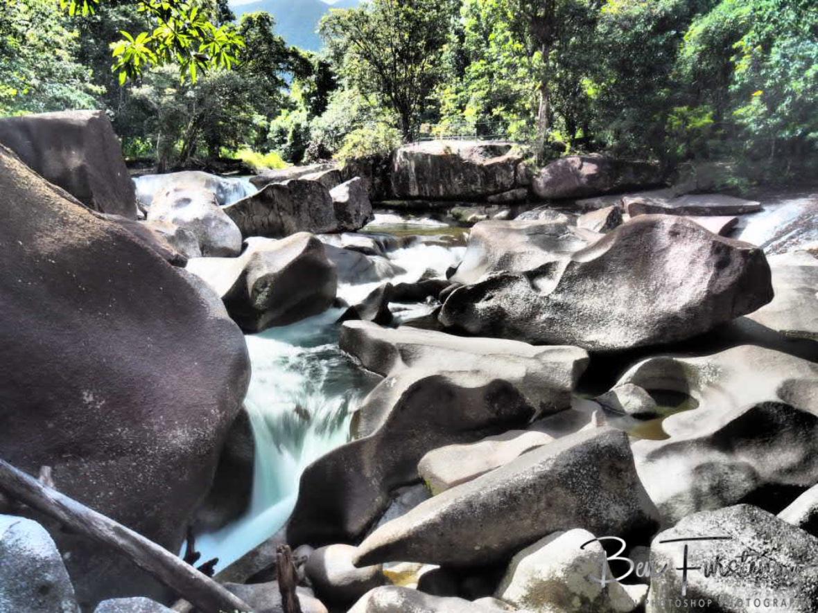 Granite tumble at Babinda, Tropical Northern Queensland, Australia