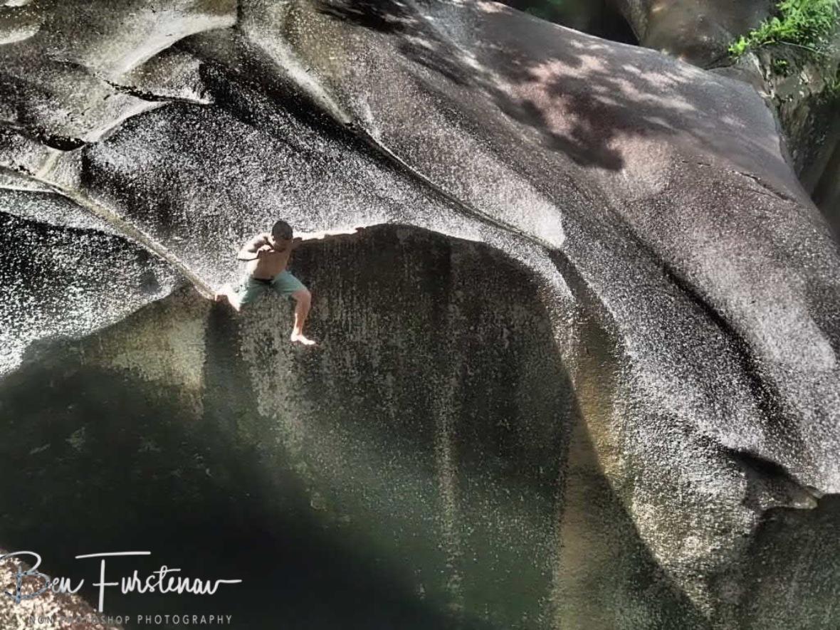 Thrill seeking at Babinda, Tropical Northern Queensland, Australia