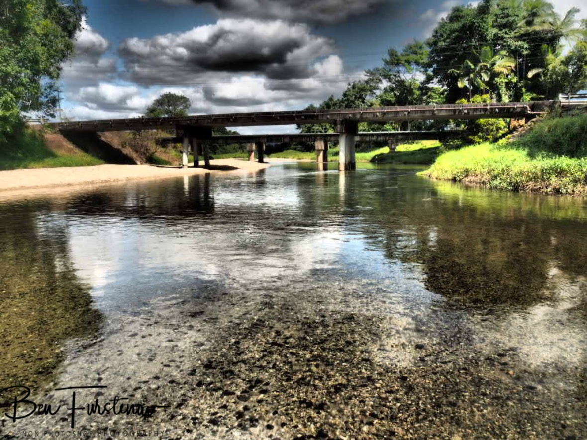 Calm and clear waters of Babinda Creek at Babinda, Tropical Northern Queensland, Australia
