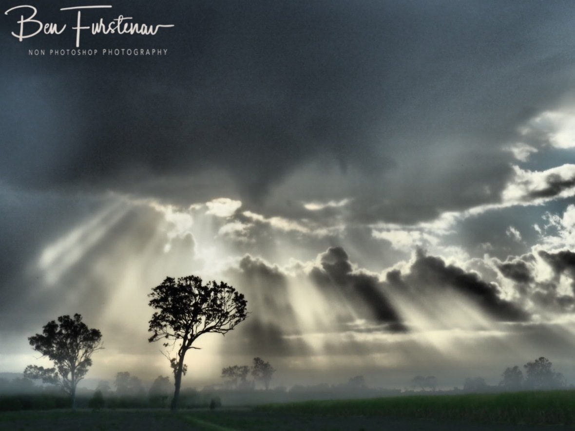 Dramatic cloud cover over a misty valley @ Lismore area, Northern New South Wales, Australia