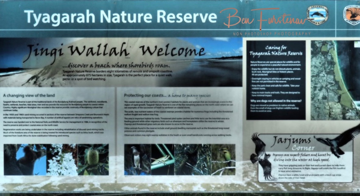 Tyagara nature reserve info @ Brunswick Heads, Northern New South Wales, Australia