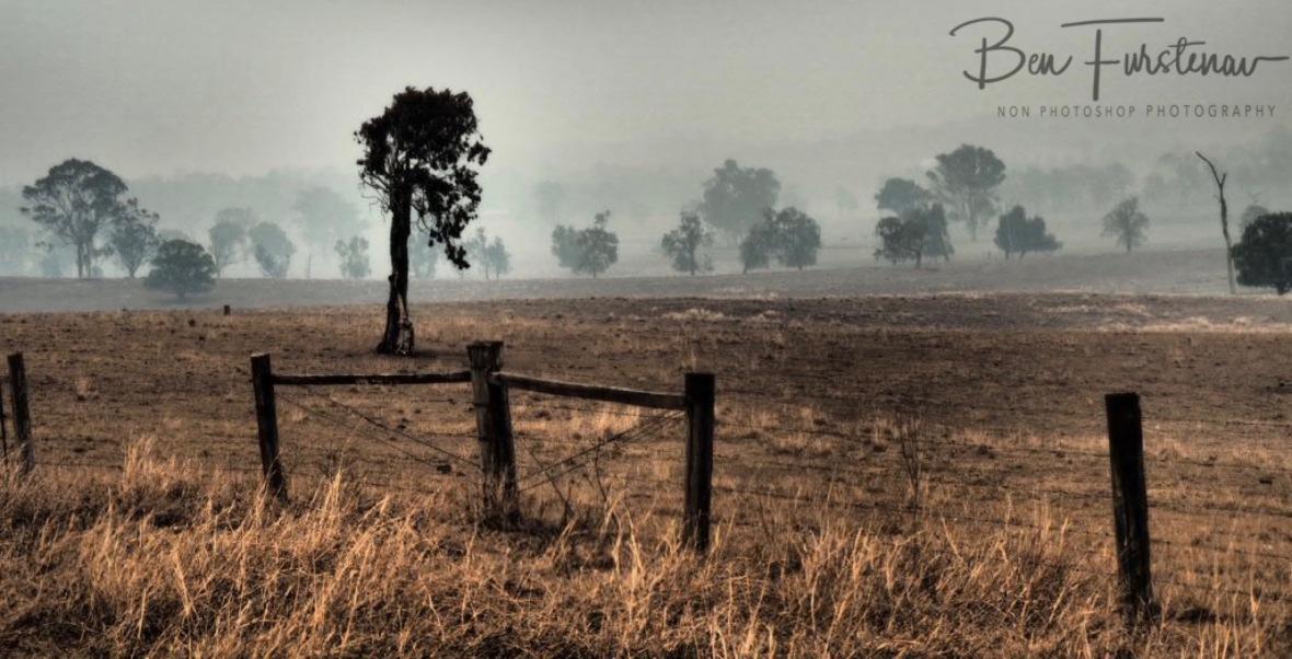 Dry, dusty and smoky @ Ulmarra, Northern New South Wales, Australia