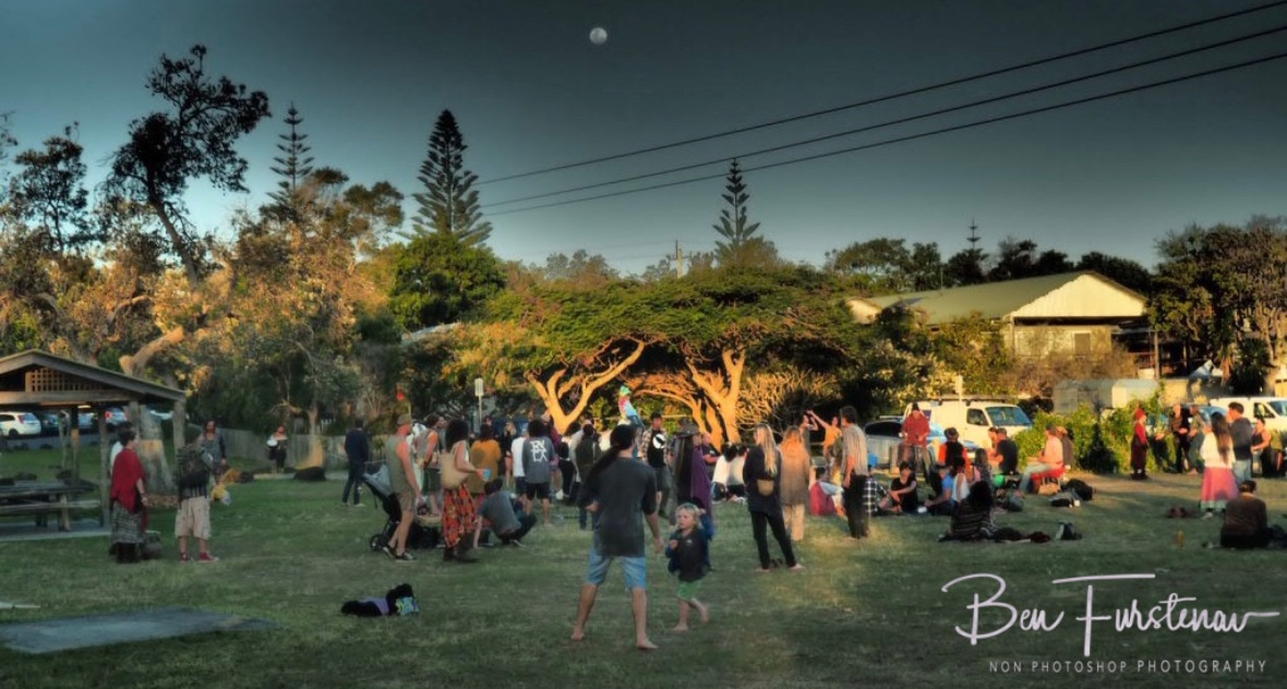 Outdoors life gigs under the full moon @ Brunswick Heads, Northern New South Wales, Australia
